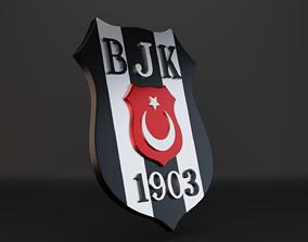 3D asset BJK Logo