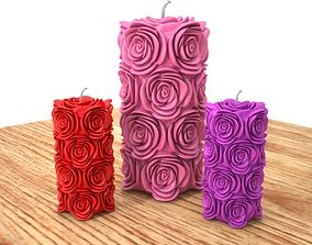Candle rose 3D printable model