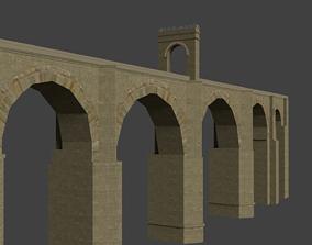 3D asset Low-poly Roman Stone Bridge
