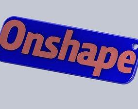 3D printable model Onshape Key Fob