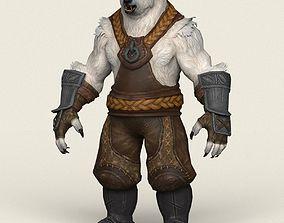 Game Ready Warrior Bear 3D asset