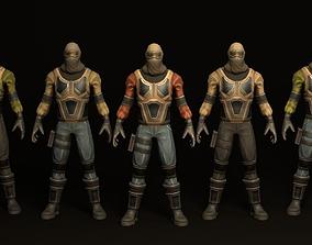 3D model Combat Character Pack 1 Enemies