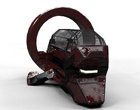 Sci Fi Medic Bot PBR Lowpoly 3D model