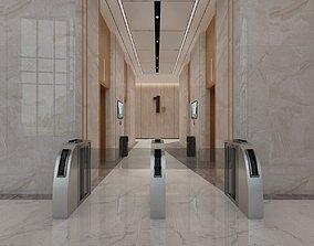 Business Lobby - Elevator Hall 3D model