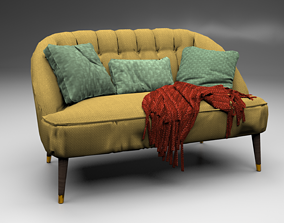 3D model MARGOT 2 SEATER SOFA