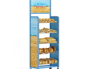 Market Shelf Breads 3D