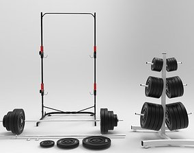 Gym equipments 3D model