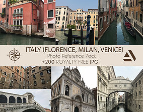 3D model Photo Reference Pack Italy Florence Milan Venice