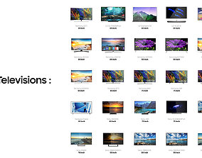 25 Televisions Collection 3D model sony