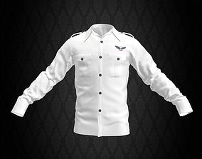 White Airforce Shirt 3D asset