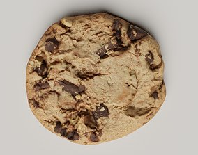 3D model Chocolate Chip Cookie photoscanned