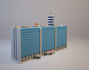 TRT Turkish Radio and Television Blue Building 3D model