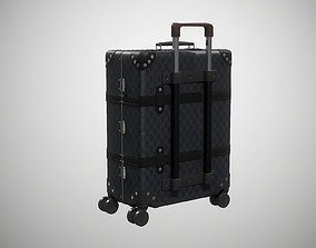 Gucci Globe-Trotter GG canvas luggage suitcase 3D asset