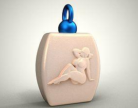 3D printable model Girl Embossed Pendant