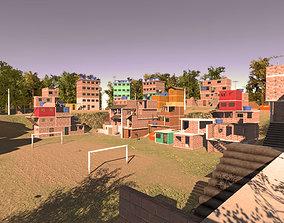 Favela Environment - Slums 3D model VR / AR ready