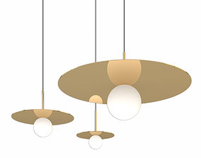 pablo Pablo designs 12 inch rose gold bola pendant 3D