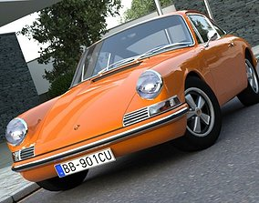 Porsche 911 1963 3D animated