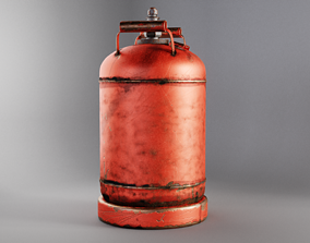 Gas Cylinder 3D asset low-poly