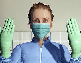 animated Free 3D Model of Medical Worker Uniform