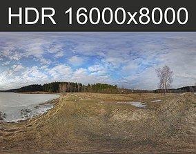 Frozen lake HDRI 3D model