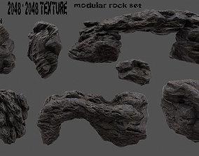 Rock set 005 3D asset realtime