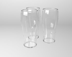3D model VR / AR ready Beer pint glass