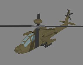 Low Poly AH-64D Apache 3D asset