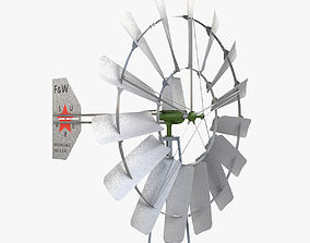 3D model Wind powered well pump