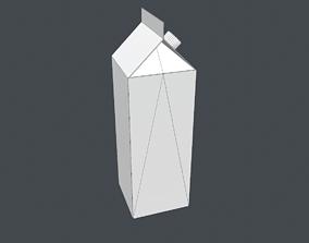 3D asset Free tetra pak box