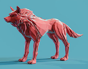 Wolf low poly Papercraft 3D printable model