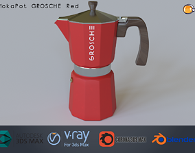 Moka Pot GROSCHE Milano Stovetop Espresso Maker 3D model