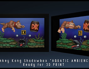 Shadowbox Donkey Kong - Aquatic Ambiece - 3D Print Fan