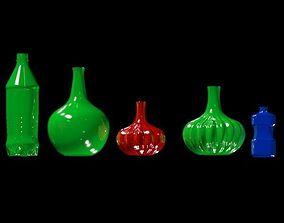 Bottle pack high poly 3D