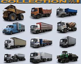 3D asset Trucks Collection