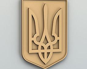 Lesser coat of arms of Ukraine 3D print model