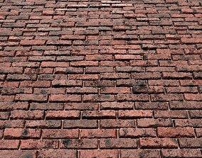 Red Grunge Brick Wall-PBR-01 3D model