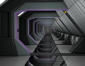 Sci Fi Corridor architecture 3D