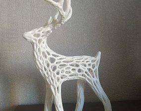3D print model Christmas deer voronoi santa