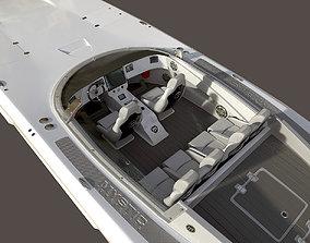 3D Mystic Powerboat C3800 WHITE