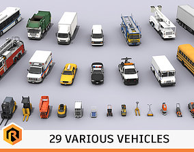 3D asset 29 HQ Vehicles - Mega Collection