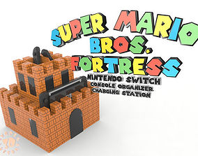 Super Mario Fortress Console Organizer 3D print model 3