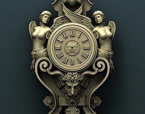 Woman Wall clock 3d stl model for cnc