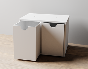 3D printable model 017L LA Unit Large 2 Drawer Vertical