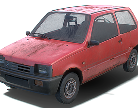 3D model Old Generic Hatchback Set