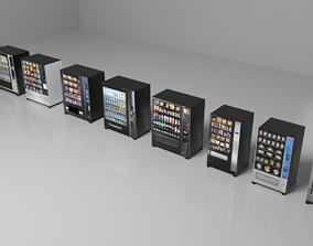 Snacks Vending Machines Set 3D asset