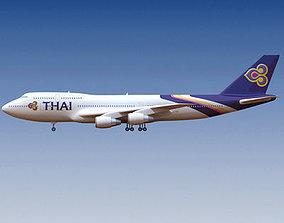 3D Thai Airways Boeing