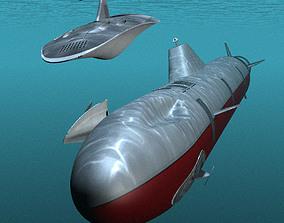 3D Submarine Mothership