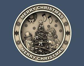 Merry Christmas Holiday Santa Claus Happy New Year CNC 2