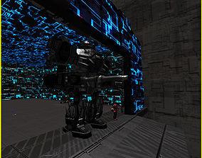 3D Greeble Mech Hangar realtime