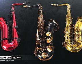 Saxophone Collection 3D asset